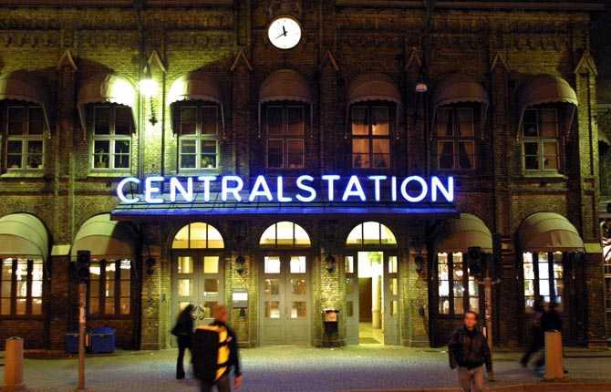 Drabbas om havsnivån stiger med sex meter Centralstationen, Göteborg.