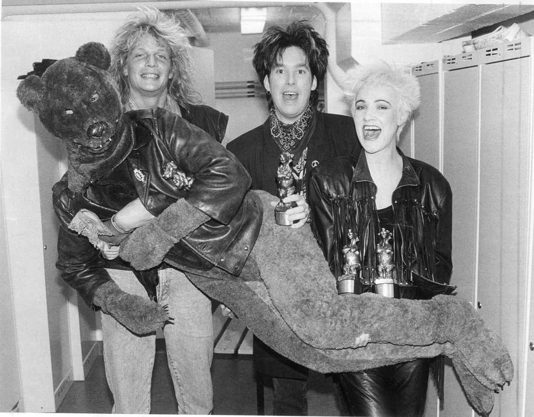 Hardcore-björnen Med Tommy Nilsson och Roxette 1989.
