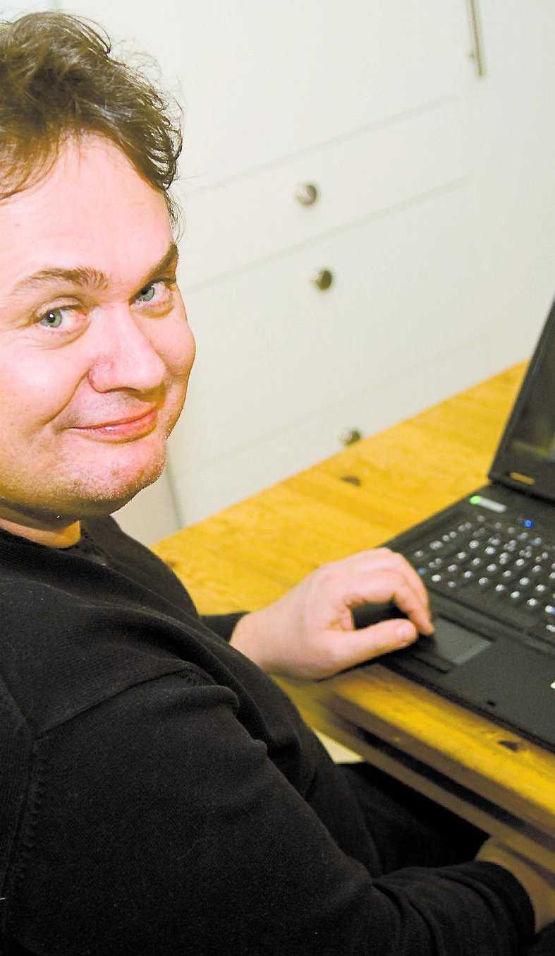 """Jerry Olsson Datasamordnare i Uppsala, började skriva om affären på sin nätdagbok, """"Ord av Jerry""""."""