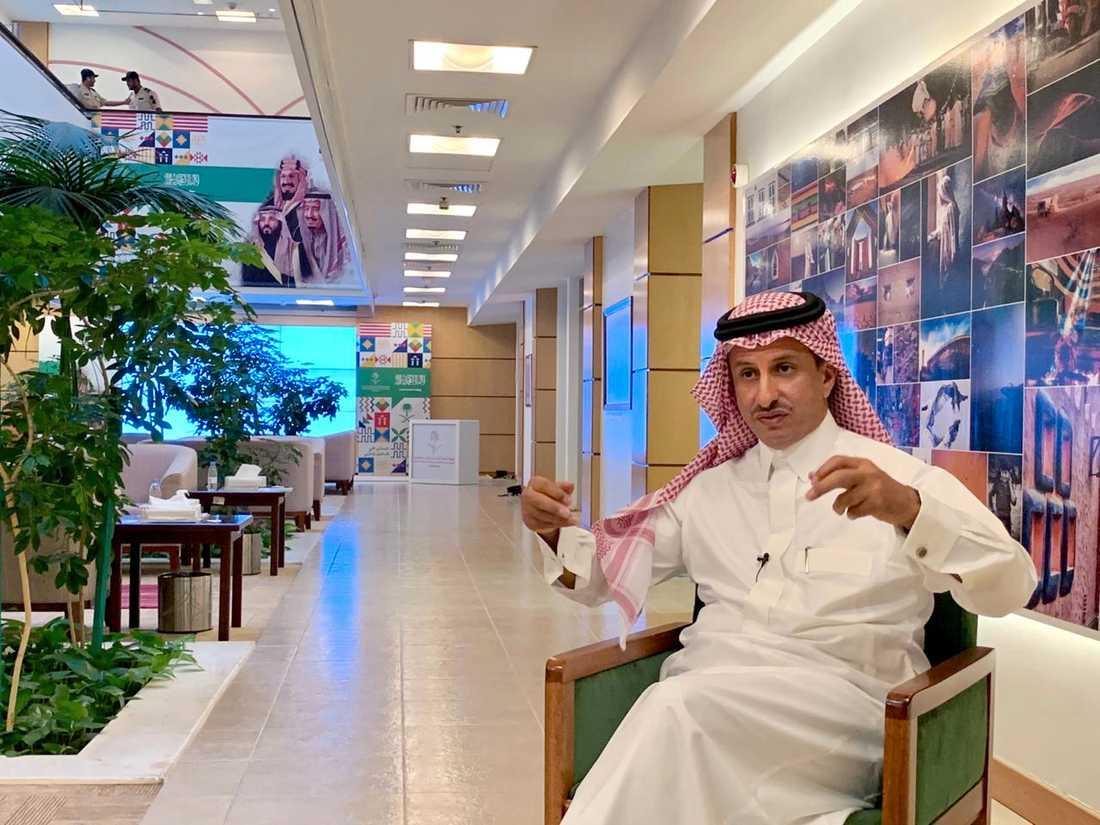 Saudiarabiens turistchef Ahmed al-Khatib säger att det är ett historiskt ögonblick när landet nu kommer att släppa in turister. Arkivbild.