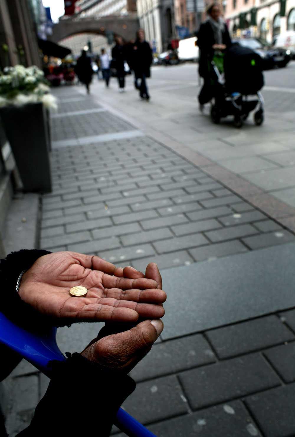 Tiggare på Kungsgatan i Stockholm. Obs: arkivbild.