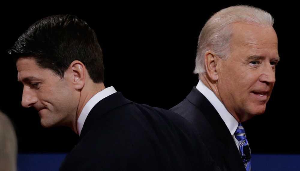 Paul Ryan och Joe Biden.