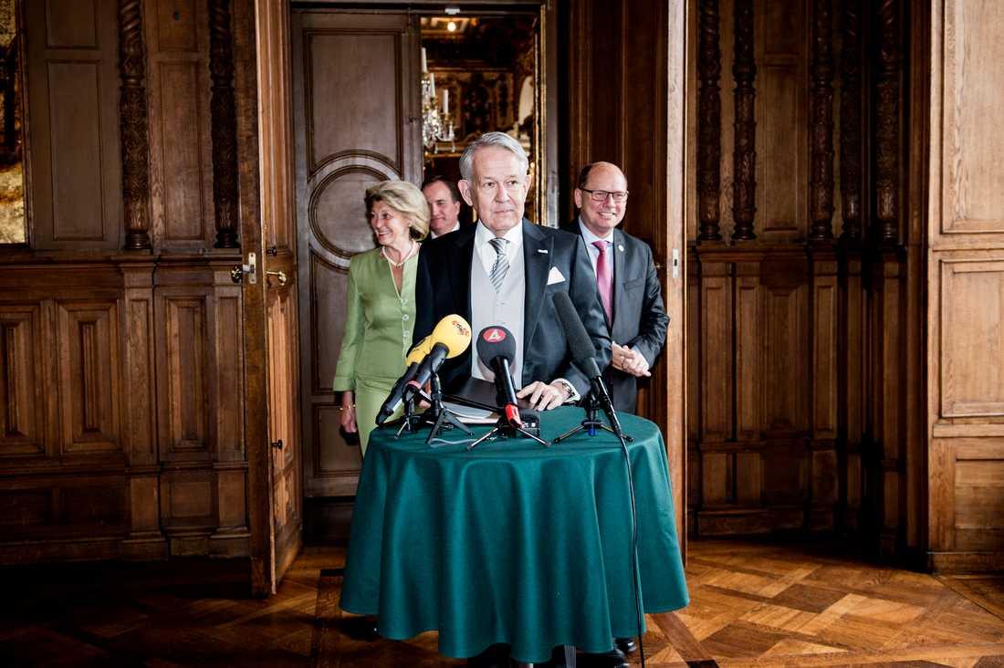 Riksmarskalk Svante Lindqvist fanns på plats vid mötet.
