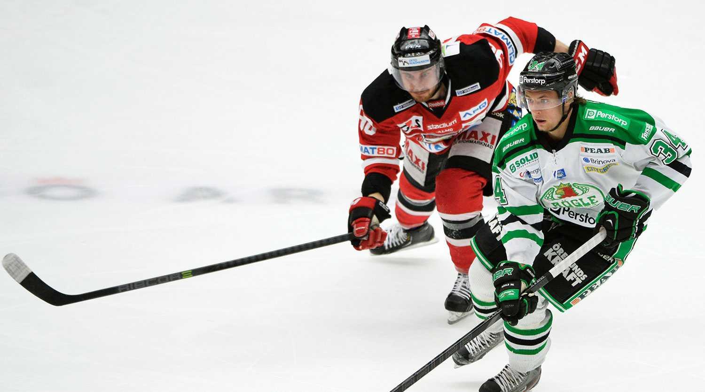 """Rögle och Malmö kämpar för en plats i SHL. Men först måste de ta sig igenom kvalet... förlåt """"Meca Hockey Race""""."""