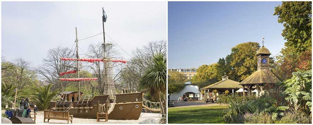 På Princess Diana Memorial Playground finns allt man kan tänka sig för barn som älskar lekplatser.