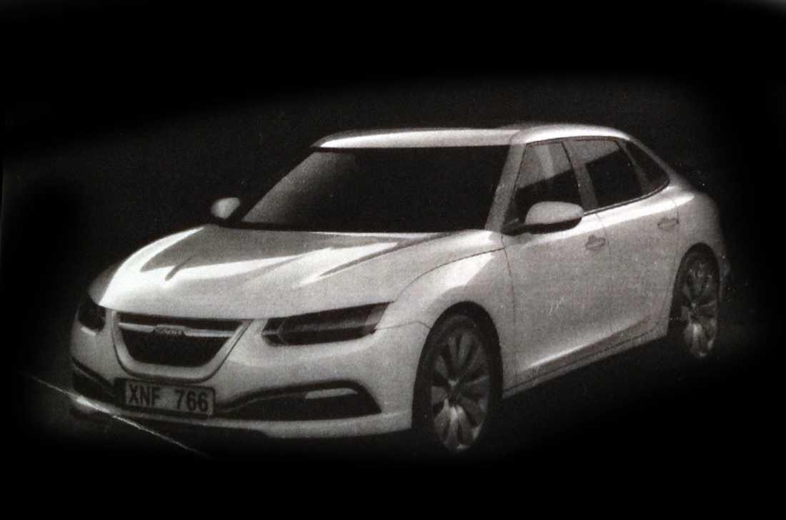 Skisser på ersättaren till Saab 9-3. Källa: Autocar