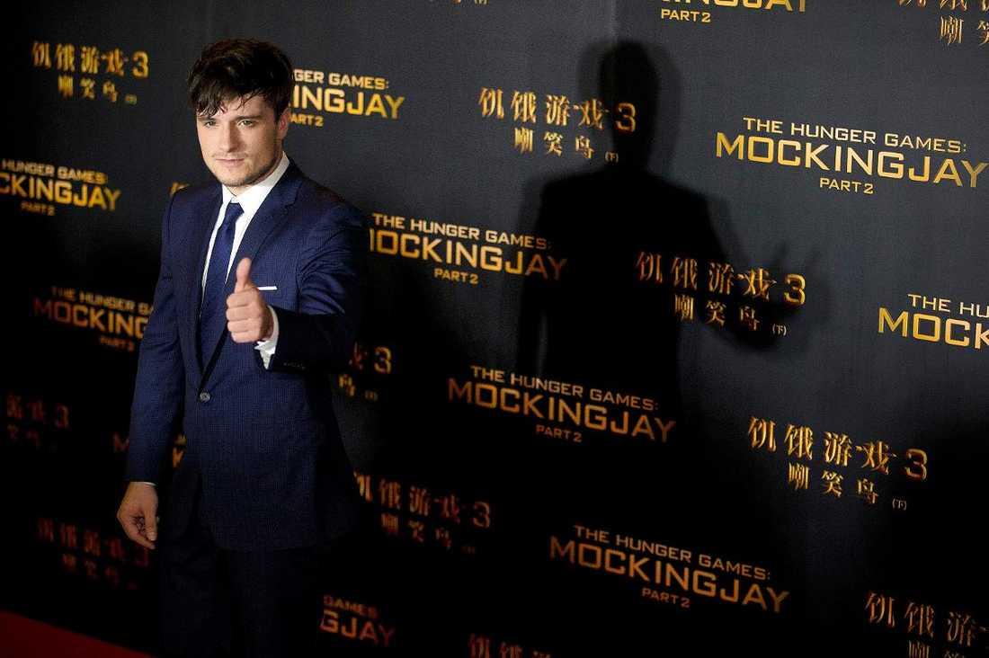 """Josh Hutcherson säger att han inte var riktigt förberedd på hur intensiv uppmärksamheten skulle bli när han tackade ja till """"Hunger games""""-filmerna. """"Det var svårt att tackla"""", säger han."""