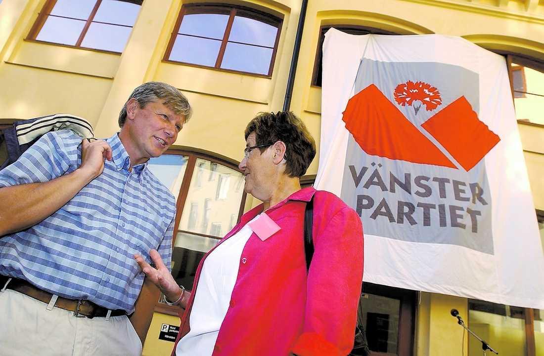 Med Lars Ohly under EU-valet 2004.