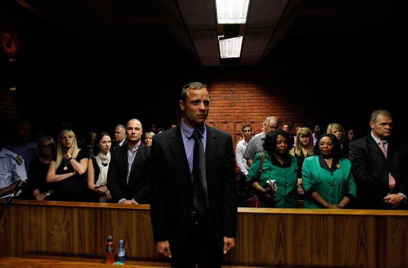 På andra förhandlingsdagen i februari brast Oscar Pistorius ut i gråt vid flera tillfällen.