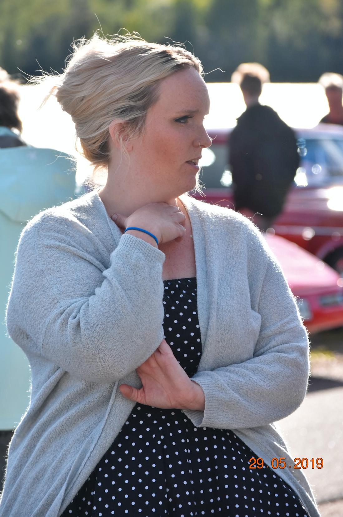Initiativtagaren tillika undersköterskan Anna Hilmersson.