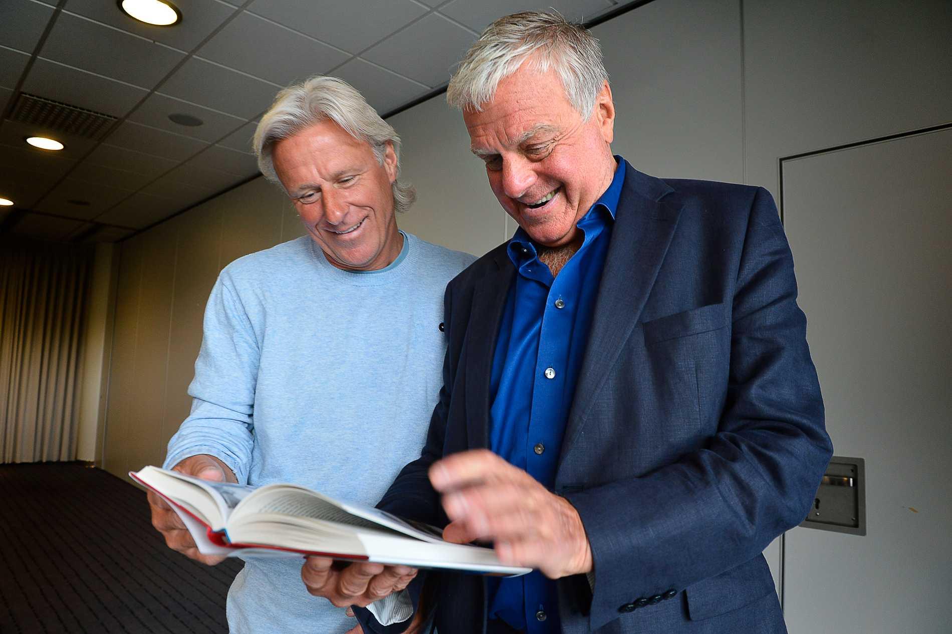 Björn Borg e Tommy Engstrand in relazione al lancio del libro di Engstrand