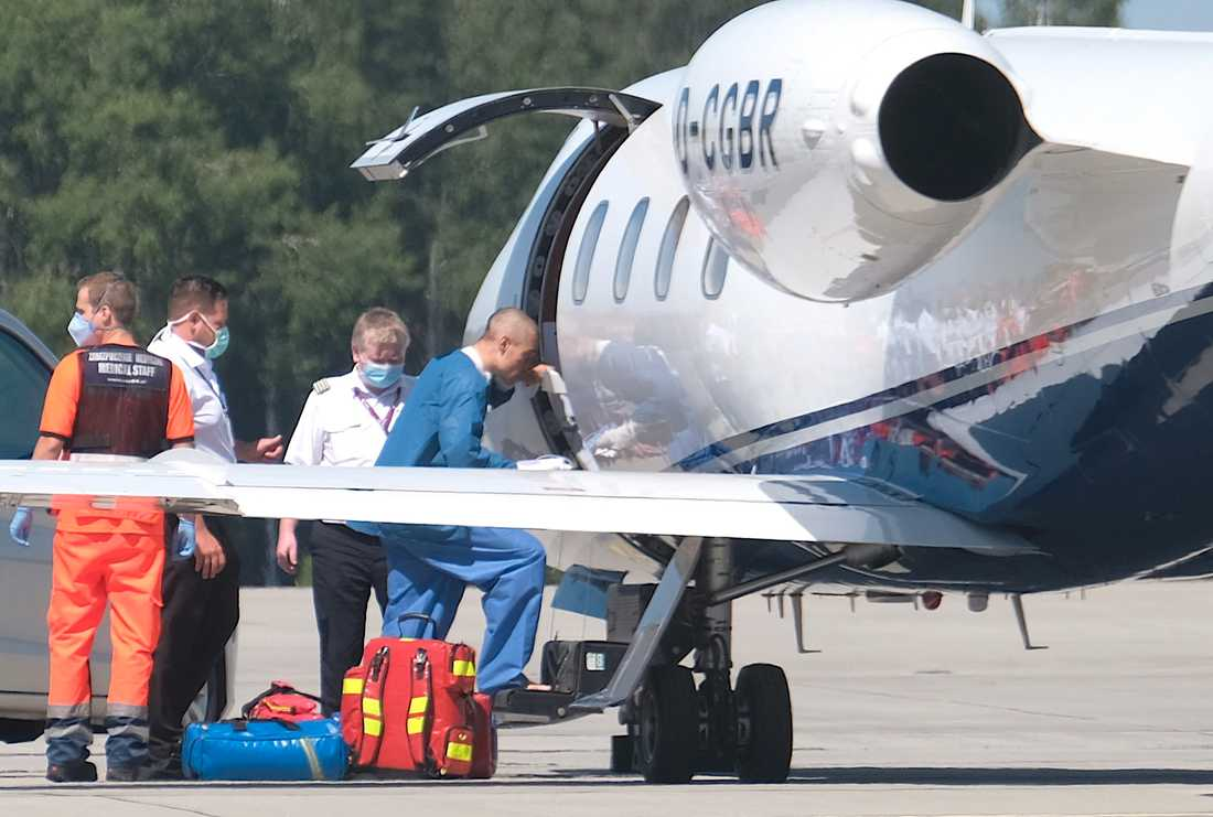 Fabio Jakobsen har nu fått flyga hem.