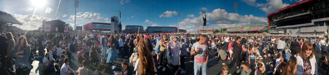 50 000 i publiken på Old Trafford cricket ground.