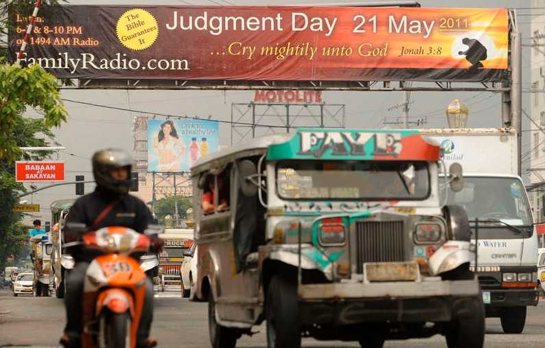 Varning i Manila för några dagar sedan.