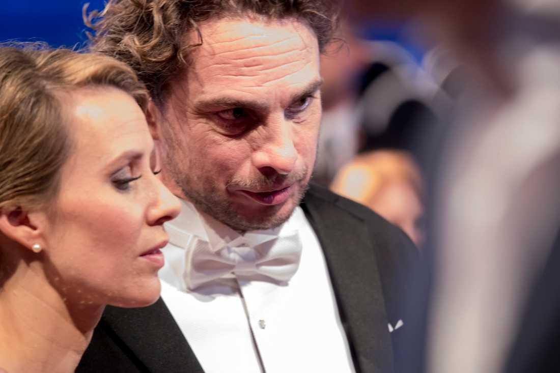 Anders Öfvergård och hans danspartner Cecilia Ehrling.