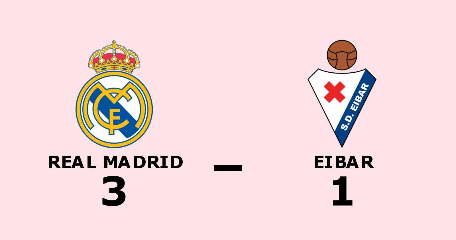 Seger för Real Madrid mot Eibar i spännande match