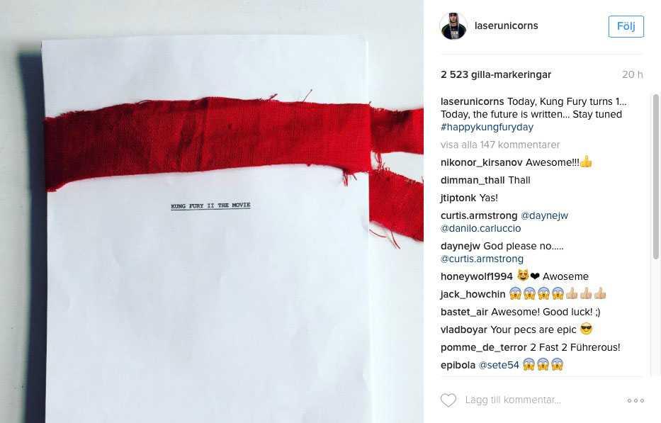 David Sandberg hintar om uppföljaren på Instagram.
