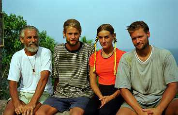 Kent Larsen, Ola Melén, Åsa Vilbäck och 1997 års vinnare Martin Melin.