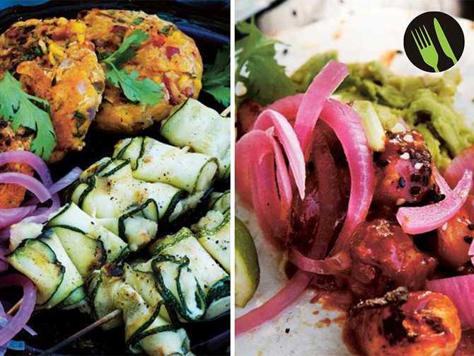 Majsplättar och koreansk taco.