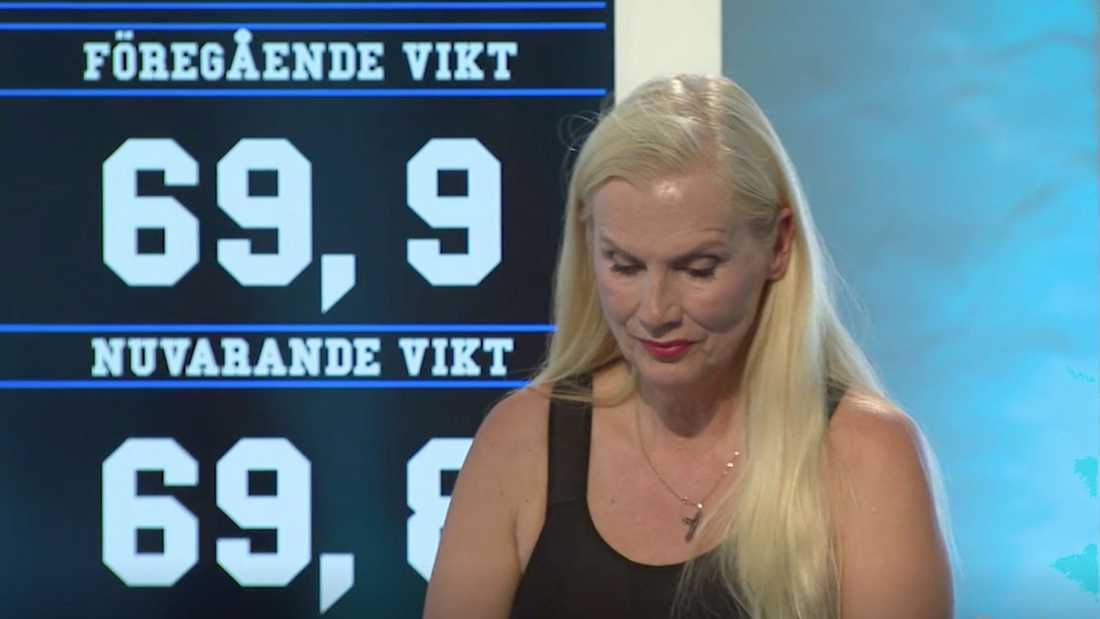 """Gunilla Persson i """"Biggest loser VIP""""."""