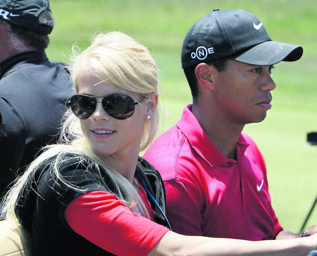 Elin Nordegren och Tiger Woods.