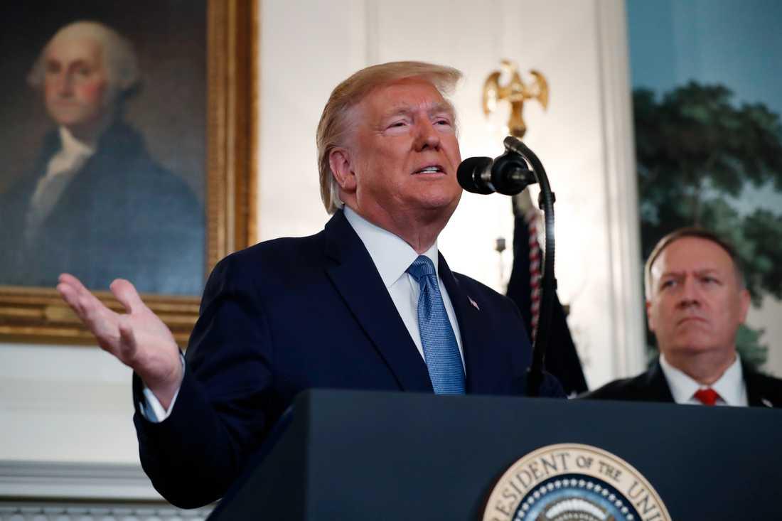 USA:s president Donald Trump tillkännager i Vita huset att sanktionerna om Turkiet hävs och att USA:s politik i Mellanöstern kommer att få en ny inriktning,