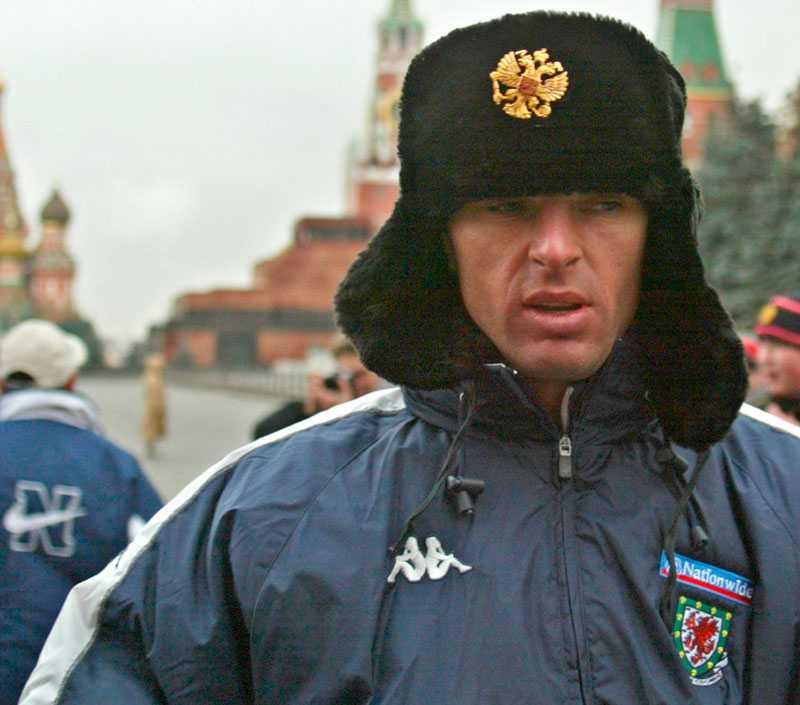 I Moskva med Wales 2003.