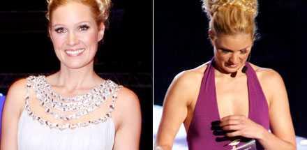 Jessica Almenäs klarade av 4 klädbyten, frågan är om de alla var lika lyckade?
