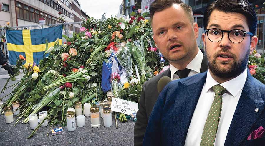 I dag, på minnesdagen för terrorismens offer, dras tankarna till Rakhmat Akilov och hans ondskefulla vansinnesfärd på Drottninggatan, skriver Jimmie Åkesson och Adam Marttinen.