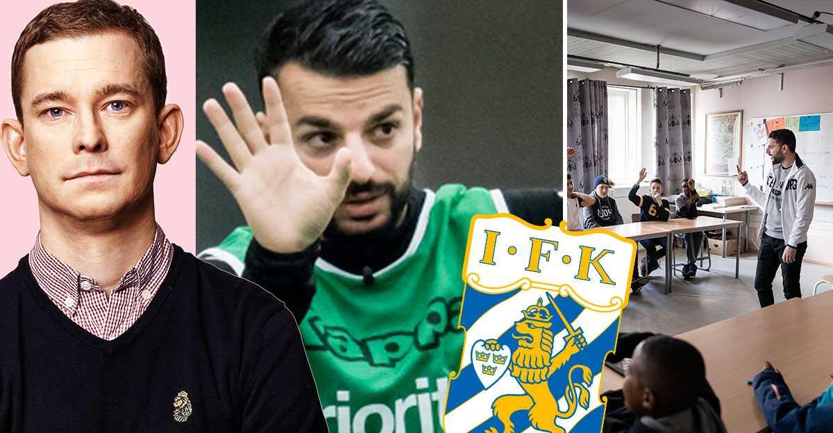 53fd340a0fab Erik Niva möter Blåvitts nya tränare Poya Asbaghi – på plats i  Biskopsgården | Aftonbladet