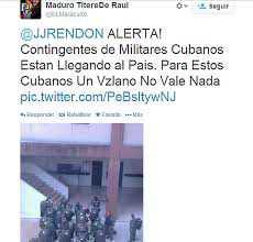 Bilder har börjat spriddas på twitter som sägs visa Kubanska soldater som anländer till Venezuela.