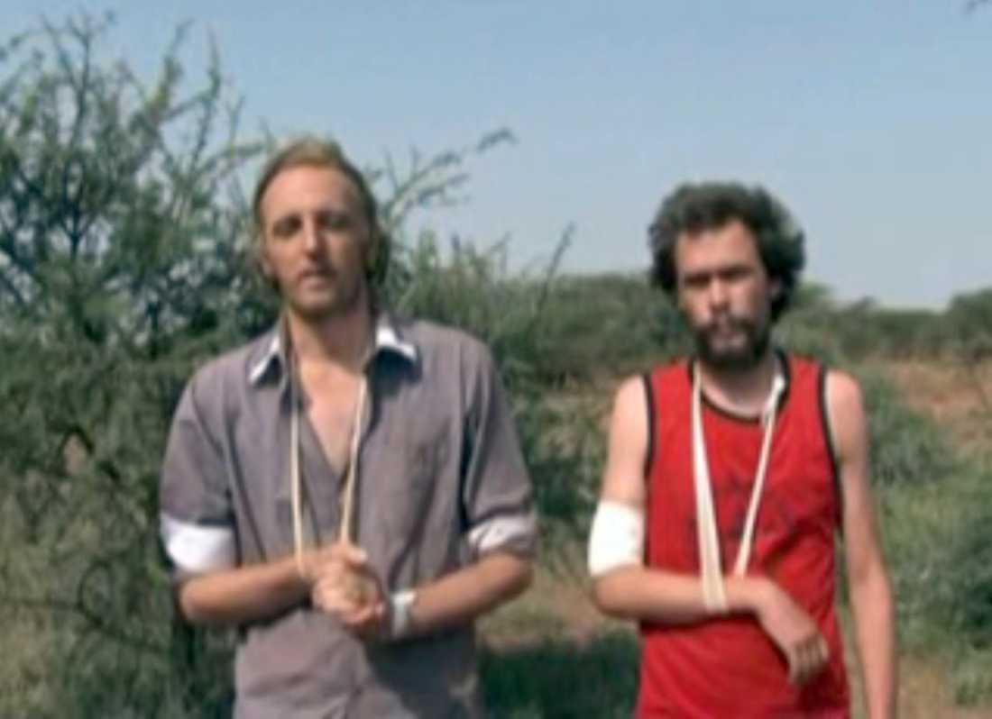Johan Persson och Martin Schibbye greps den 1 juli 2011.