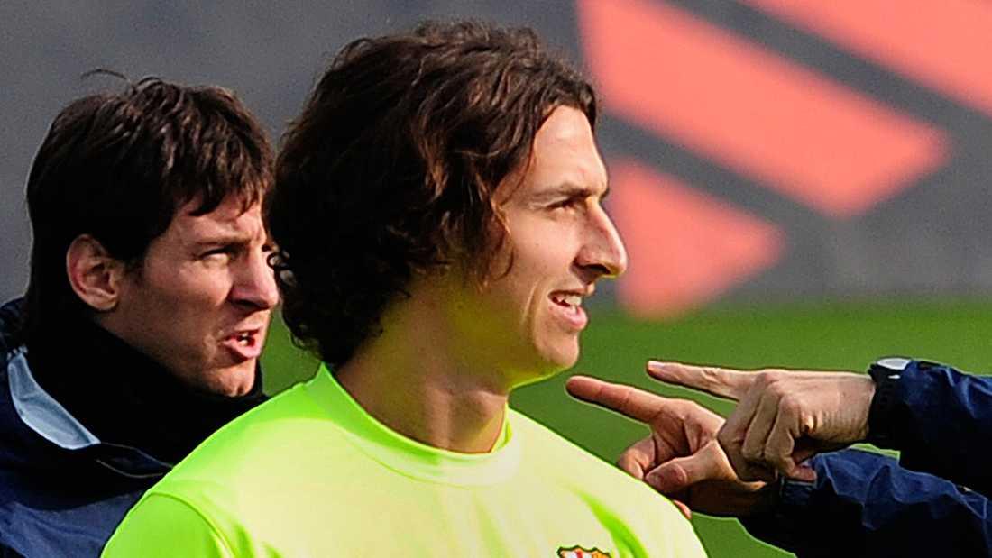 Något kortare I slutet av 2009 hade Zlatan en närmast pageliknande frisyr.