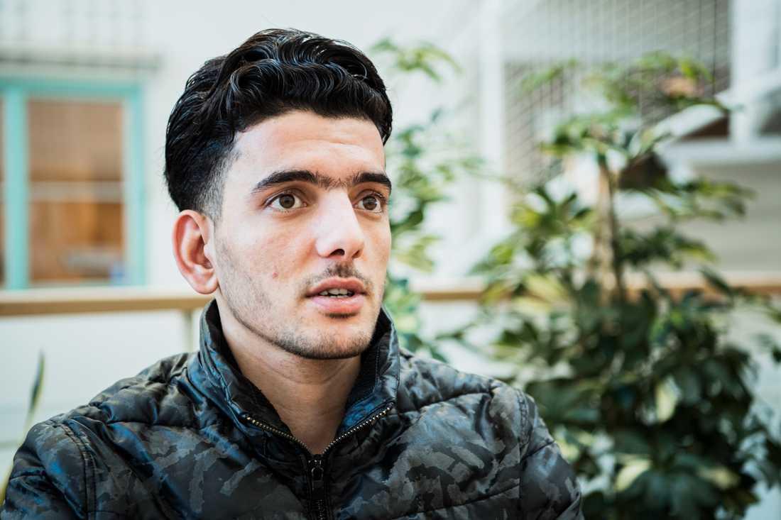 Hamad Al Abboud, 20 år, kom till Sverige från Syrien 2014