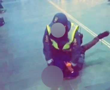 Väktaren brottade ner den 9-årige pojken.