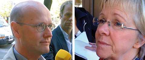 Thomas Östros och Wanja Lundby Wedin anlände till S-partihögkvarteret vid tiotiden på förmiddagen för ett extrainkallat möte med partistyrelsen.