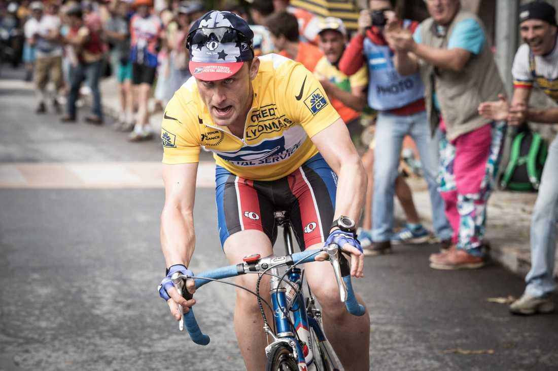 "Ben Foster som Lance Armstrong i ""The program"""