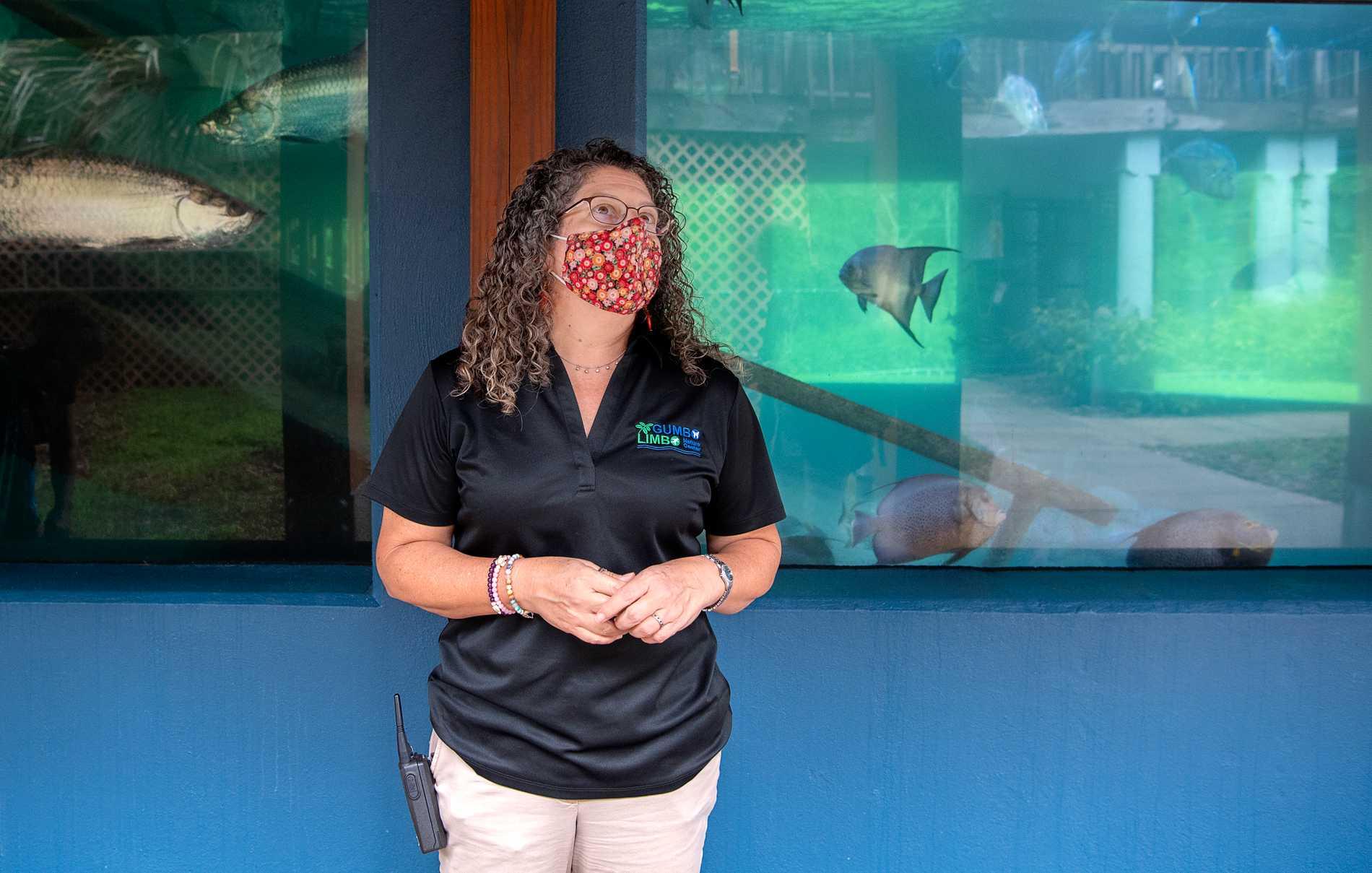 Whitney Crowder ansvarar för rehab av havssköldpaddor.