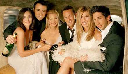 """Vänner""-gänget? Från vänster: Courteney Cox, Matt LeBlanc, Lisa Kudrow, Matthew Perry, Jennifer Aniston och David Schwimmer."