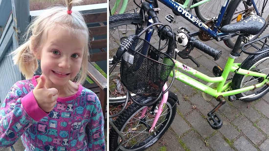 Tora, 5, smet ut mitt i natten för att cykla hem till sin kompis.
