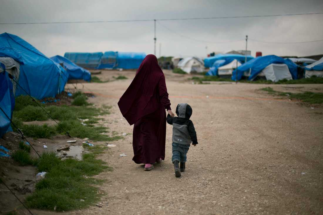Två svenska juridiska ombud för ett antal kvinnor och barn i lägret Roj i nordöstra Syrien lämnar idag in klagomål mot Sverige till Europadomstolen. Arkivbild.