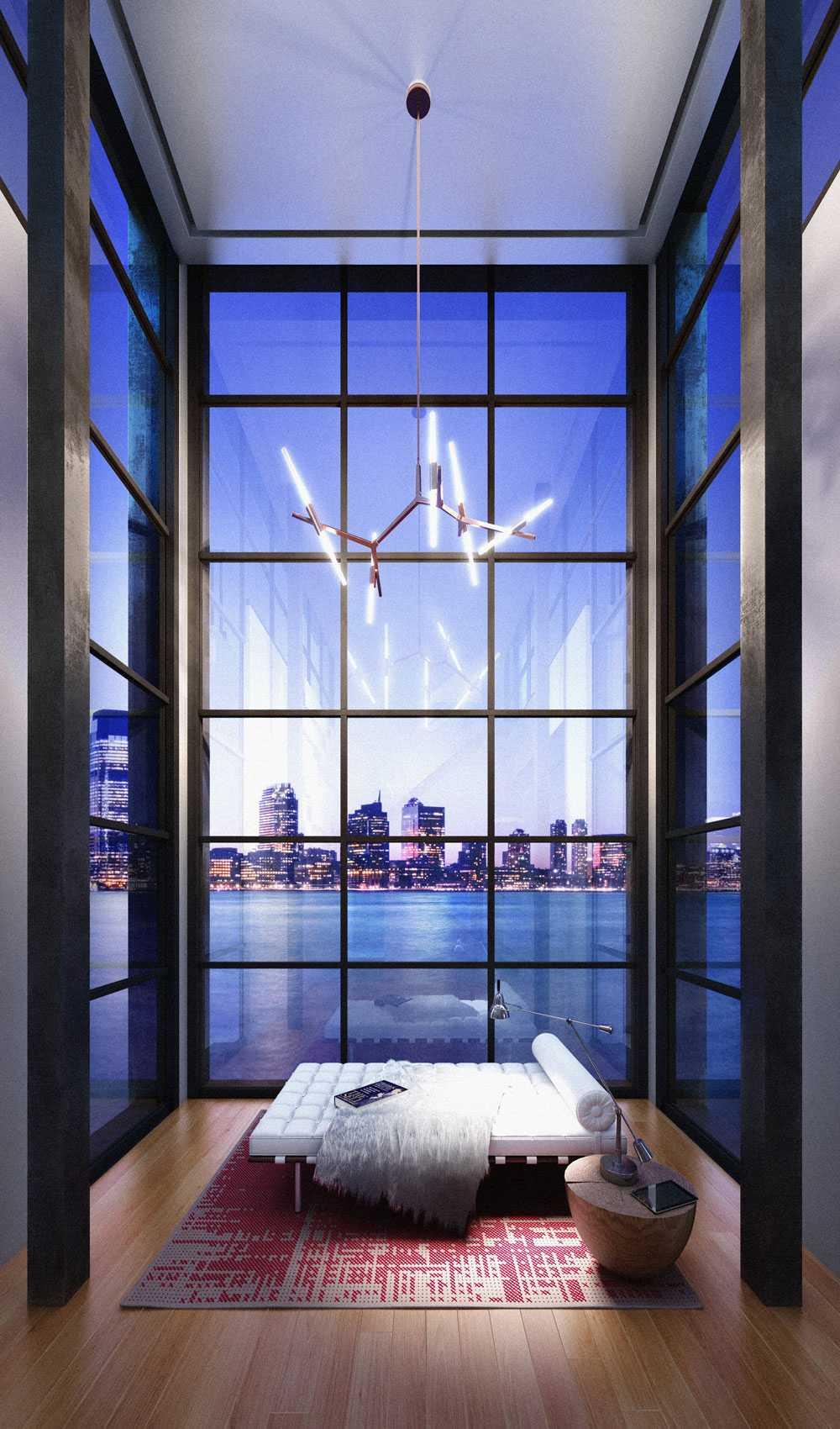 New York utanför fönstret.