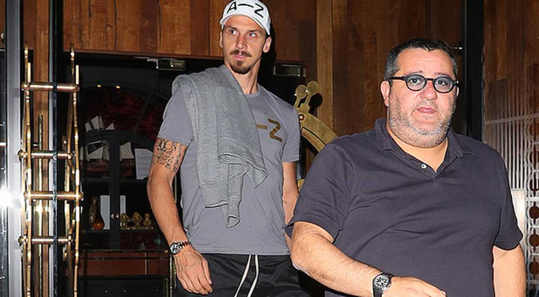Zlatan och Raiola fångades på bild i Manchester i natt