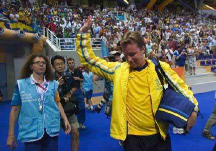 Waldner hyllades som en kung i Aten, trots att han till slut missade medalj.