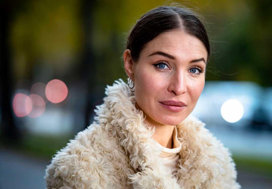 """Alida Morberg, aktuell i SVT-serien """"Amningsrummet""""."""