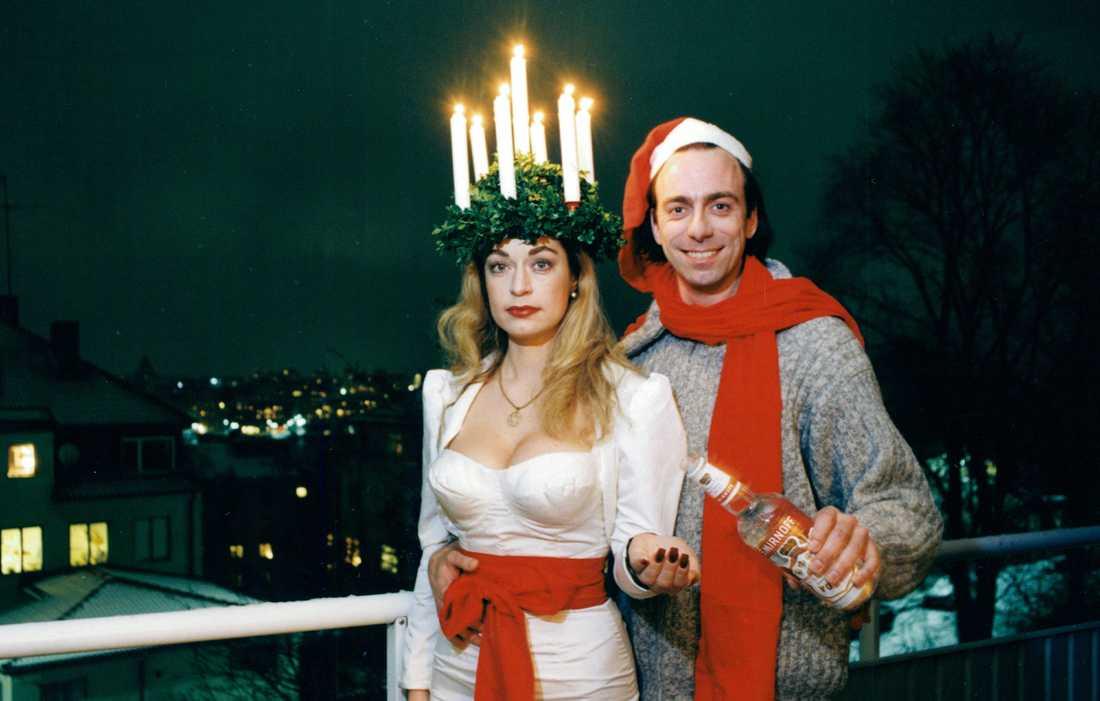 På Luciafest tillsammans med Camilla Thulin