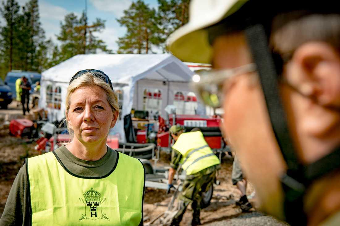 Anneli Smedberg, från hemvärnet i Västmanland.