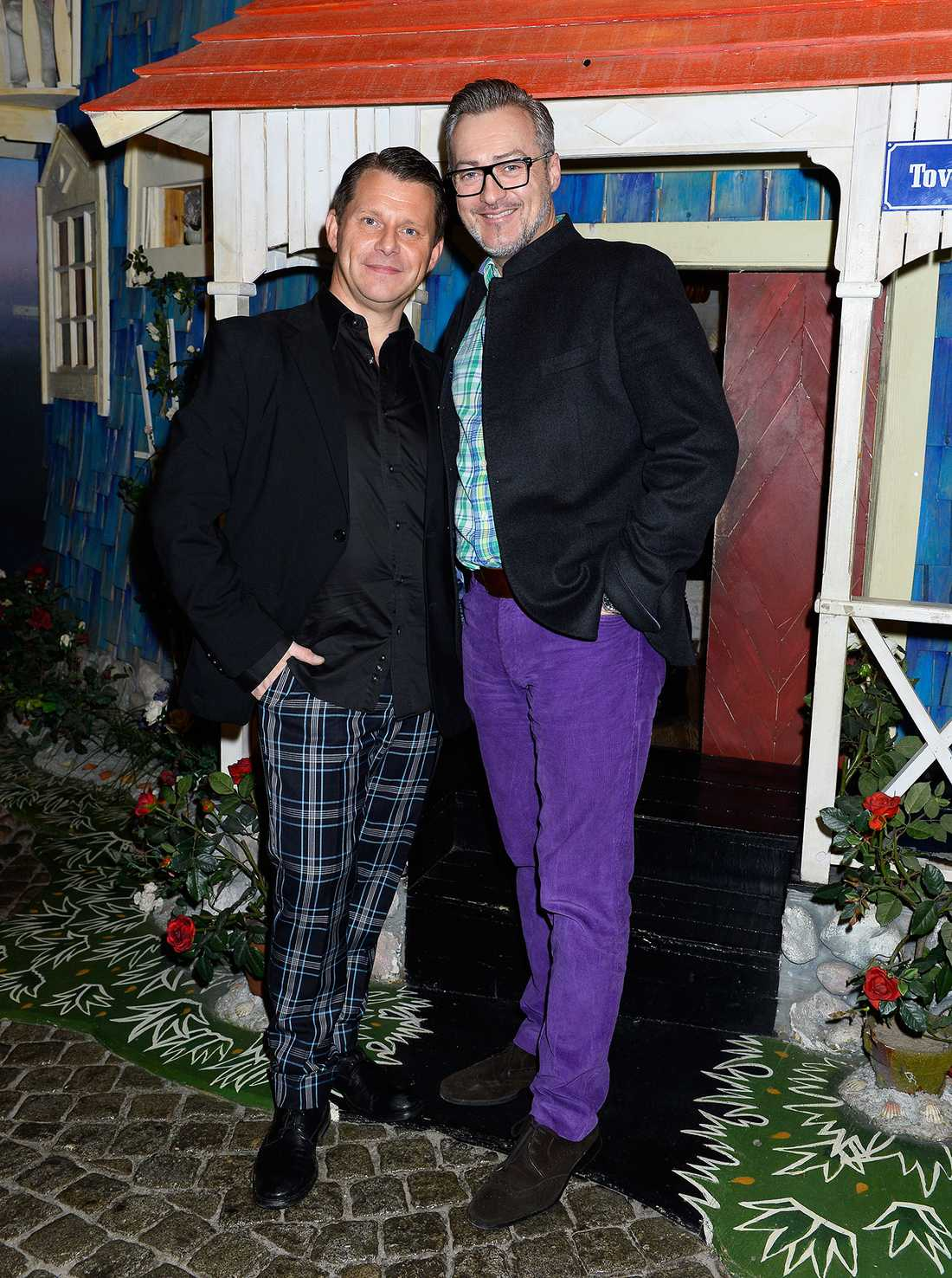 Tony Irving, 50, med Alexander Skiöldsparr, 44