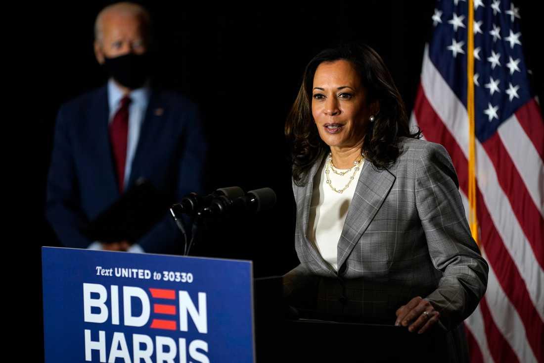 Vicepresident Kamala Harris lär få stort inflytande i Joe Bidens Vita hus. Arkivbild.