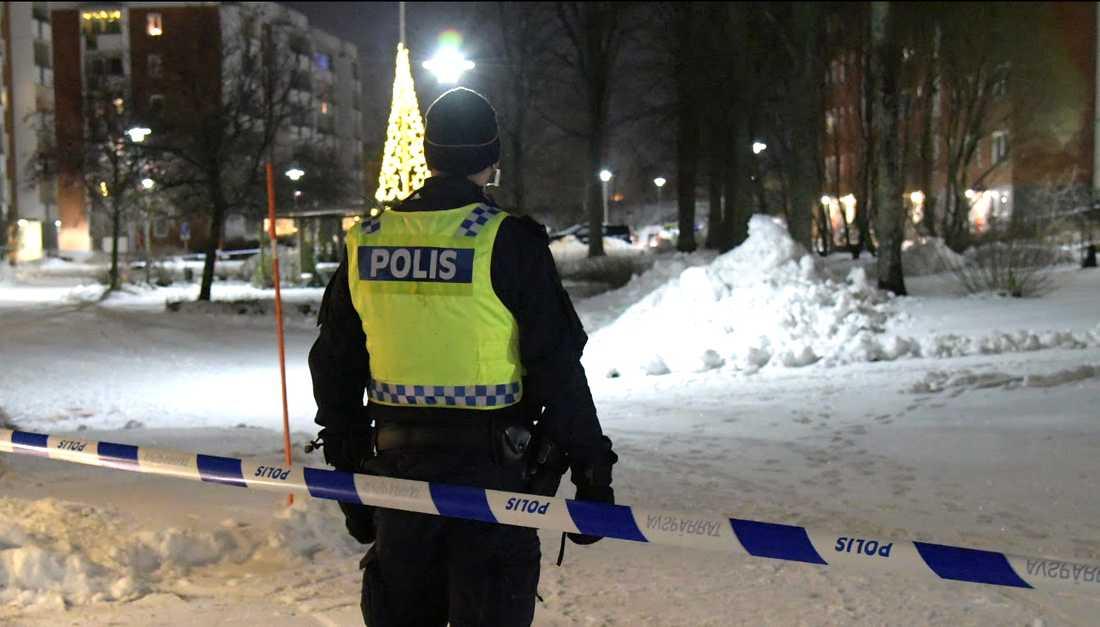 En person har blivit skjuten i Sundsvall
